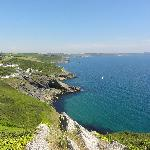 View towards Portloe from coast path