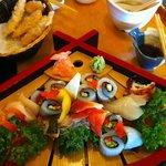 my sashimi dish, yum...