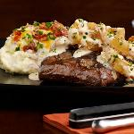 Crispy Onion Flat Iron Steak