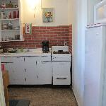 "kitchenette for the ""apartment"""