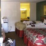 Unser Zimmer am nächsten Morgen