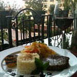 Delcious meal by Arte Culnario, enjoyed from our terrace in Marina Vallarta.