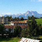 View from 1st floor window, Hotel La Tour d'Ai