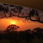 African sunset from our tent