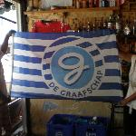 flag from de Graafschap hangs at Efe Bar