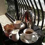 AM Coffee on Balcony