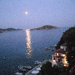 Moonlight from Skiathos town