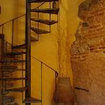 l'escalier du hall d'entrée