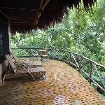 Our private patio on the rainforest!