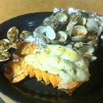 24oz Lobster Tail, Steamers, and Clams Casino