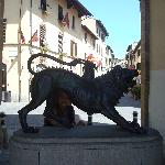 Chimera Di Arezzo (at the entrance of the historic center)