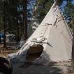 Teepee from outside