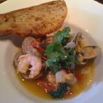 Shrimp, clams and tasso
