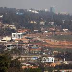 view of Kigali from the breakfast room
