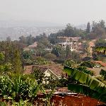 view of Kigali from the breakfast terrace
