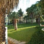 Gardens of Oasis village viewed from our studio balcony
