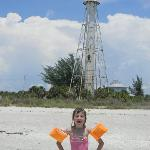 My daughter Tyhler in front of the old lighthouse
