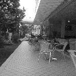 Vista dell'ampia veranda