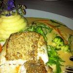 Hallefloundra Fisk with Truffle Sauce
