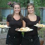 Waitresses Serving on the Patio
