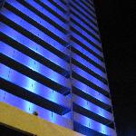 vue de l'hôtel la nuit