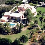 Areal View of the Property and Gardens