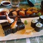 Tempura Maki (prawn), California Rolls, Chicken Teriyaki Nigri & Kappa Maki