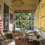 Breakfast porch in Main House