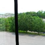 Rock quarry visible from our room