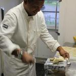 Chef Ismail rolling pasta