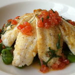Lemon sole, sauce vierge