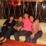 shanty,chichy,me and jelita. very nice of them to bring me out for a drink after working hours a