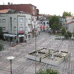 View onto the square
