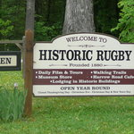 Sign for Historic Rugby Village