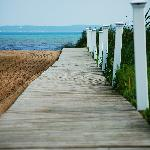 Boardwalk to the water...for when the sand gets hot!