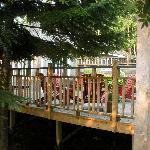 La terrasse de l'auberge