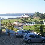 view of Goodrington park from our balcony
