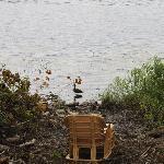 Muskoka chair lakeside