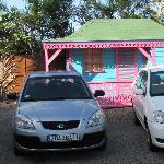 stationnement à la villa narjo