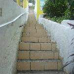 Stairs going up to our room