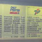 The menu at Chez Leo (July 2011)