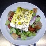 Salad with feta chese of Crete