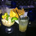 Margaritas and guacamole, warning: this food looks better than tastes