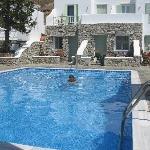 Nice, clean pool ; salted water