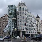 The Dancing House (Fred and Ginger)  nearby the hotel