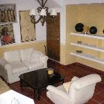 sitting area in hacienda