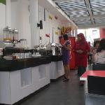 The breafast area..