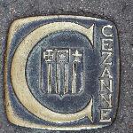 Bodenpflaster weisen den Weg zu Czezanne