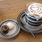 Hot Chocolate Chaser - Caramel Whiskey Cappuccino Truffle, Chilli Lemon grass Truffle and a Mug