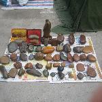 A vendor's small selection